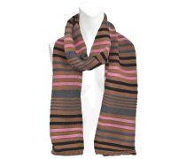 Schal mit Streifen Wolle 30x170