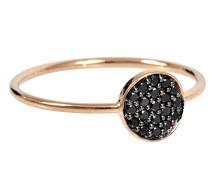 Ring Mini Diamond Ever Disc, schwarz