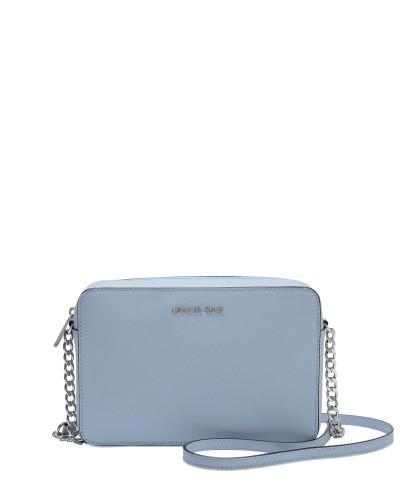 fadd0e1e47919 Billig Verkauf Vorbestellung Rabatt Fälschung Michael Kors Damen Large EW  Crossbody Tasche aus Pale blauem Saffiano