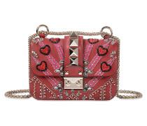 Tasche Mini Lock bestickt Loveblade