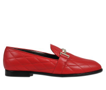 Qulted logo loafer