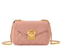Mini Tasche mit Überschlag Heart Quilted