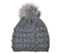 Mittellange Mütze , geflochten, Kaschmir