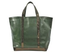 Shopper Moyen + Leder und Pailletten
