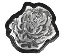 große Rosanbrosche aus Metall