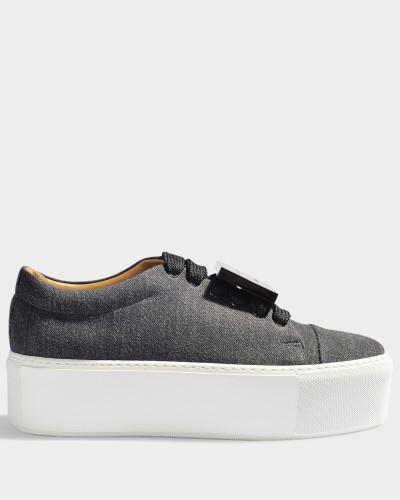 Acne Damen Denim Sneaker mit Plateau Drihanna