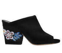 Embroidered 95 floral wedge
