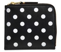 Quadratischer Geldbeutel mit Reissverschluss Dots Printed Leather Line