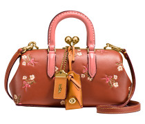 Tasche Kisslock mit Blumen bedruckt