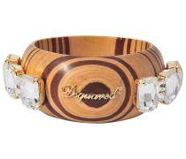 Armband mit Holz und Kristallen