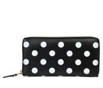 Geldbeutel mit Reissverschluss Dots Printed Leather Line