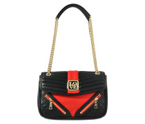 Schultertasche Colorblock Quilted