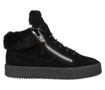 Sneaker aus Shearling Mid-top