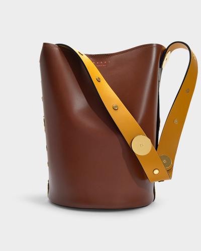 Tasche Punch aus mehrfarbigem Kalbsleder