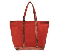Shopper Moyen mit Zip, aus Canvas und Pailletten