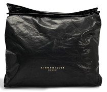 XL Lunchbag clutch in Wet leather
