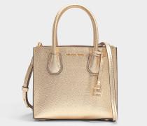 Mercer Medium Messenger Tasche aus Pale goldem Mercer Pebble Leder