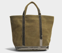 Leather and Sequins Medium tote