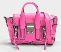 Handtasche Nano Pashli aus rosa Kalbsleder Neon
