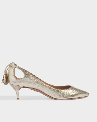 Forever Marilyn Pumps 45 in Platino Textured Nappa