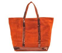 Shopper Moyen + Veloursleder und Pailletten