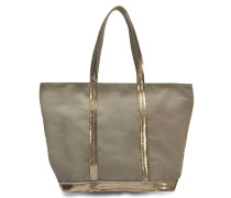 Canvas and Sequins Medium + zipped tote