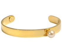 Armspange aus Messing mit Perle