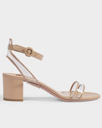 Sandalen Minimalist 50 aus puderrosa Kalbsleder und PVC