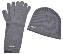 Kit Mütze und lange Handschuhe