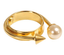 SPIKE AND PEARL RING