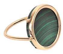 Ring Disc Malachit