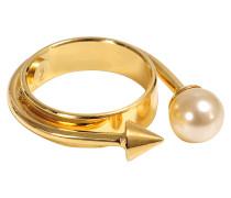 Ring mit Niete und Perle