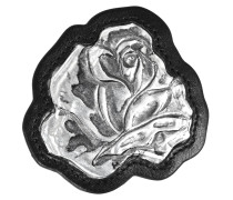 kleine Rosanbrosche aus Metall