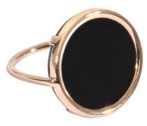 Ring mit schwarzem Onyx Disc Ring