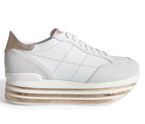 H349 MAXI PLATFORM SNEAKERS WITH CORK DETAIL