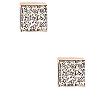 Ohrringe Mini Diamond Ever Square on Chain