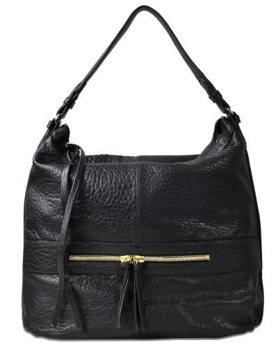 Gerard Darel Damen Day GD Tasche aus schwarzem Lammleder