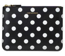 Clutch mit Reissverschluss Dots Printed Leather Line