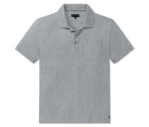 Poloshirt kurzarm Heavy Single Jersey grau meliert - Selected! Premium