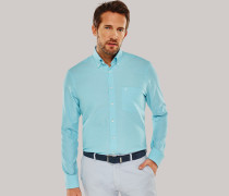 Schiesser Hemd langarm Kent-Kragen mint - REGULAR FIT für Herren