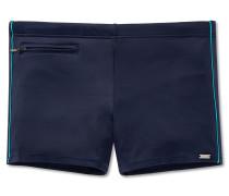Bade-Retroshorts mit Reißverschluss-Tasche dunkel