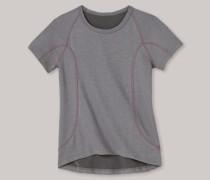 Shirt kurzarm Funktionswäsche warm grau-pink - Girls Thermo Light für Mädchen