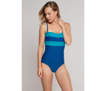 Schiesser Badeanzug mit variablen Trägern petrol - Aqua Isla Island für Damen