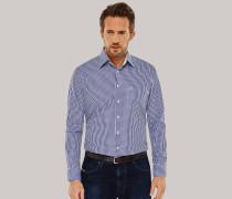 Schiesser Hemd langarm Kent-Kragen blau-weiß kariert - REGULAR FIT für Herren