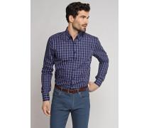Schiesser Hemd langarm Button-Down-Kragen mehrfarbig kariert - REGULAR-FIT für Herren