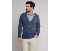 Cardigan Feinstrick blau meliert - Selected! Premium