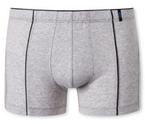 Shorts Paspeln in Schwarz melange