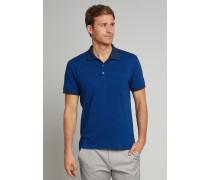Poloshirt kurzarm Heavy Single Jersey Ringel royal/navy - Selected! Premium für Herren
