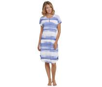 Nachthemd kurzarm Wasserfarben-Look indigo-weiß - Sometimes feelin´ blue