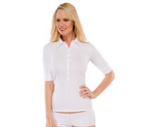 """weißes """"Fräuleinwunder""""-T-Shirt aus Doppelripp"""
